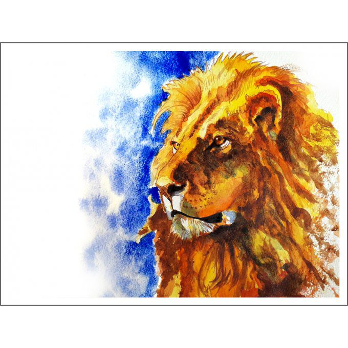 The Lion King - Numbered HD Print - 23 cm X 32 cm - 9 in X 12,5 in - Cold pressed Paper 140 lb