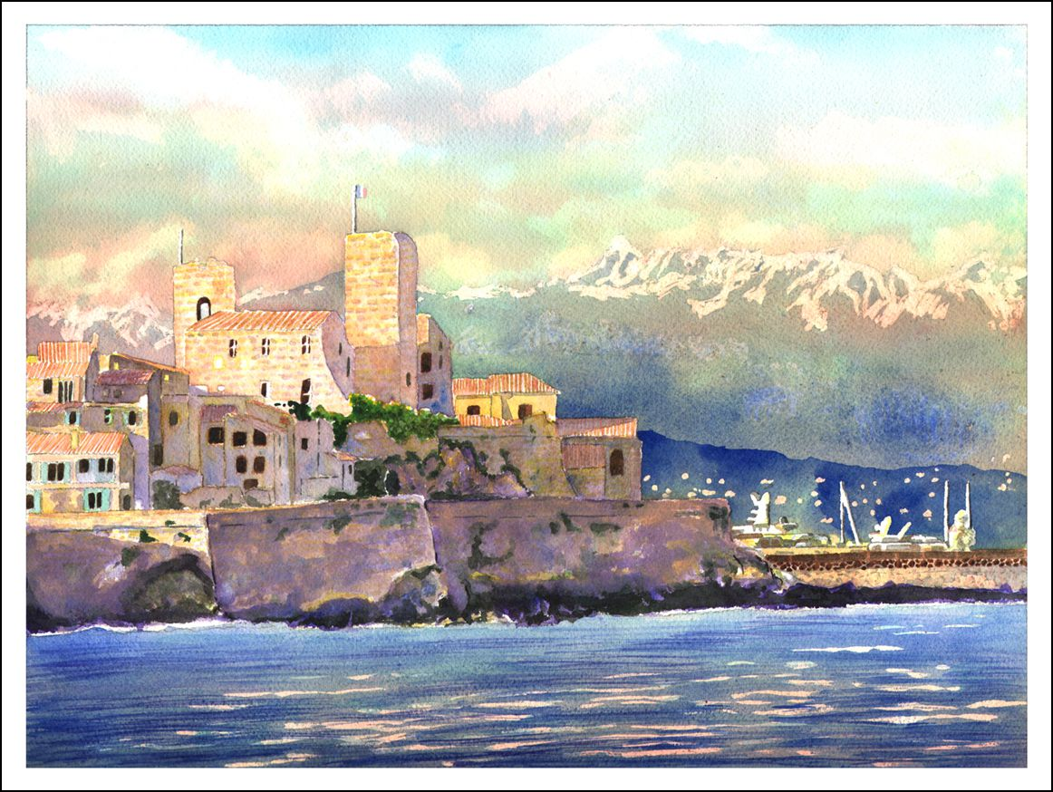 Antibes  - Numbered HD Print - 23 cm X 32 cm - 9 in X 12,5 in - Cold pressed Paper 140 lb