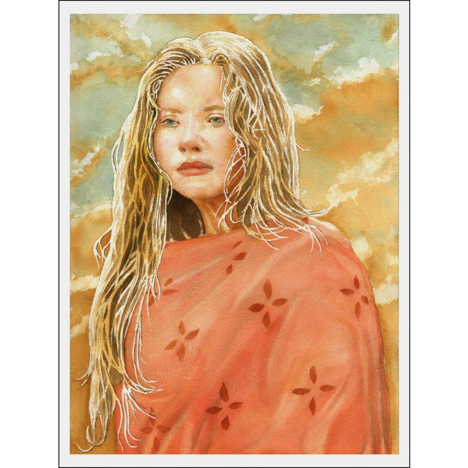 Judy Bowker as Andromeda - Nr HD Print - 23 cm X 32 cm - 9 in X 12,5 in - Cold pressed Paper 140 lb
